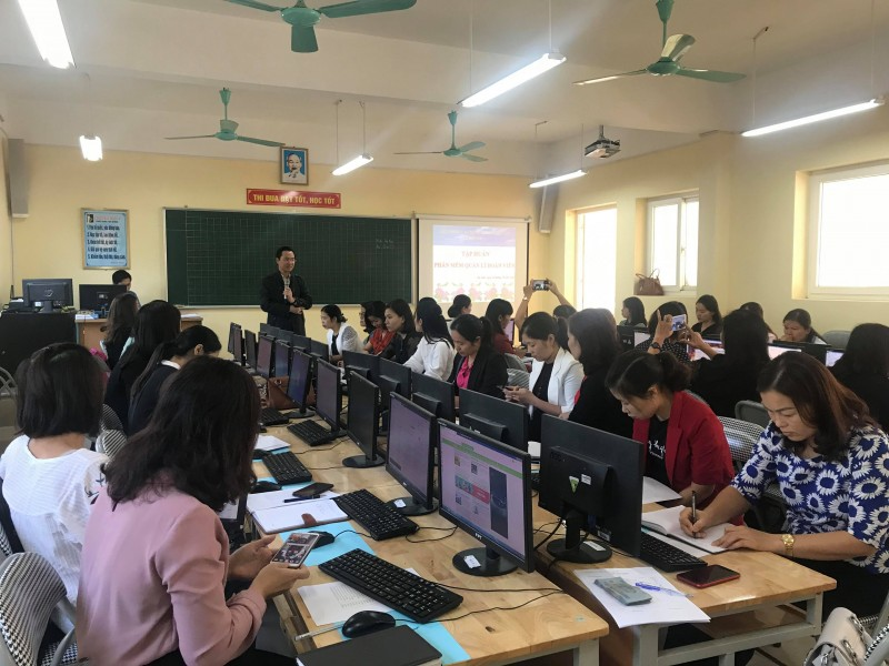 LĐLĐ huyện Gia Lâm tập huấn phần mềm quản lý đoàn viên