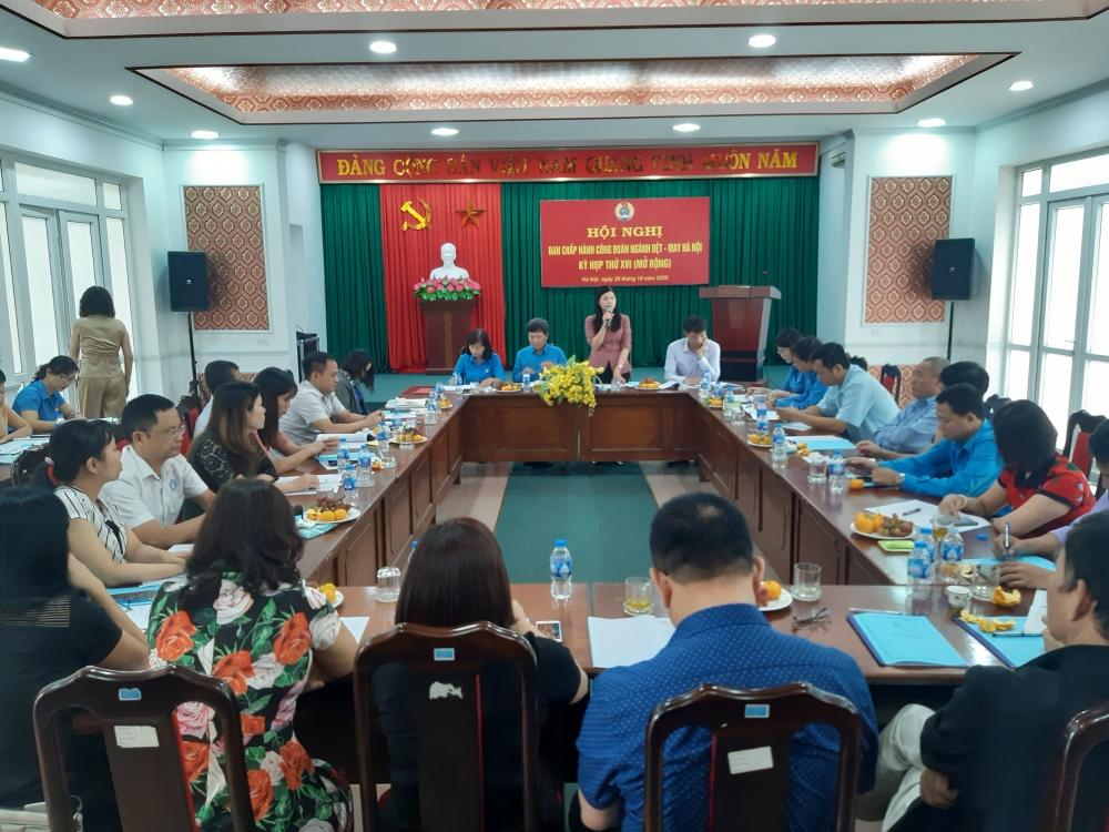 Hội nghị Ban chấp hành Công đoàn ngành Dệt-May Hà Nội lần thứ XVI mở rộng