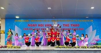Tưng bừng Ngày hội văn hóa - thể thao cán bộ, giáo viên, nhân viên ngành giáo dục Gia Lâm
