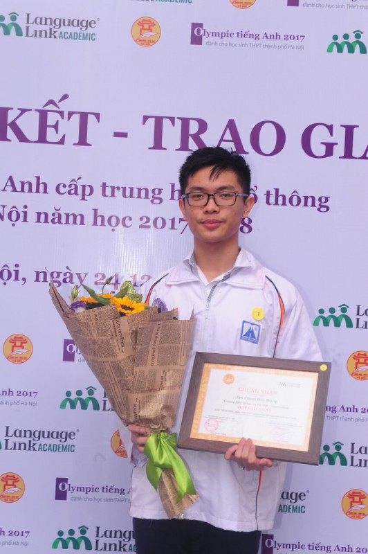 be mac trao giai olympic tieng anh thpt thanh pho ha noi nam hoc 2017 2018