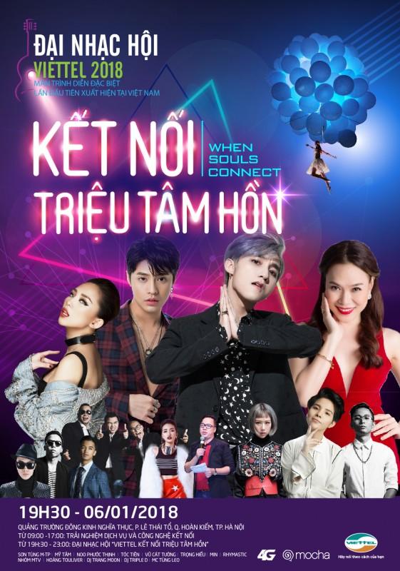 """Đại nhạc hội """"Viettel - Kết nối triệu tâm hồn"""" tại Hà Nội"""