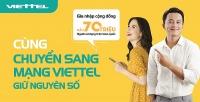 Viettel phục vụ khách hàng chuyển mạng giữ số ngay tại nhà
