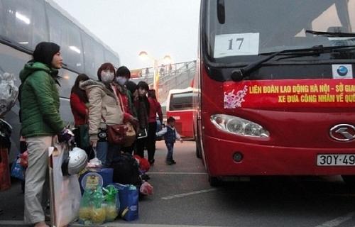 Công đoàn hỗ trợ phương tiện đưa người lao động có hoàn cảnh khó khăn về quê đón Tết