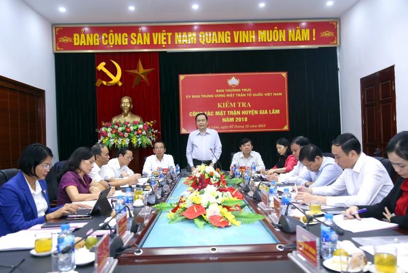 Ủy ban MTTQ huyện Gia Lâm thực hiện hiệu quả các nhiệm vụ năm 2018