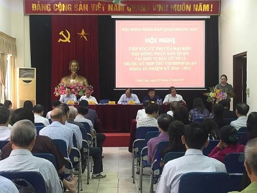 Quận Hoàng Mai tiếp xúc cử tri trước kỳ họp thứ 8, HĐND quận khóa III