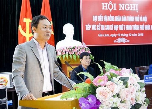 Đại biểu HĐND Thành phố tiếp xúc cử tri huyện Gia Lâm sau kỳ họp thứ 7 HĐND Thành phố