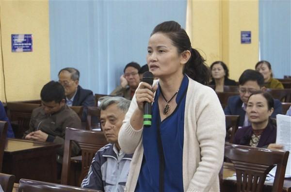 Đoàn đại biểu Quốc hội thành phố Hà Nội tiếp xúc cử tri huyện Gia Lâm