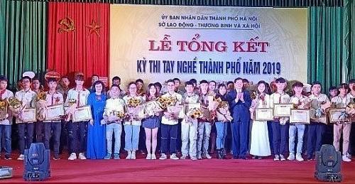 296 thí sinh xuất sắc giành giải tại Kỳ thi tay nghề thành phố Hà Nội năm 2019