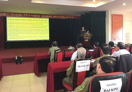 Tập huấn nghiệp vụ và kiến thức pháp luật cho lực lượng bảo vệ dân phố
