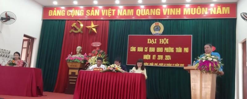 Đại hội Công đoàn phường Trần Phú, quận Hoàng Mai lần thứ V nhiệm kỳ 2019-2024