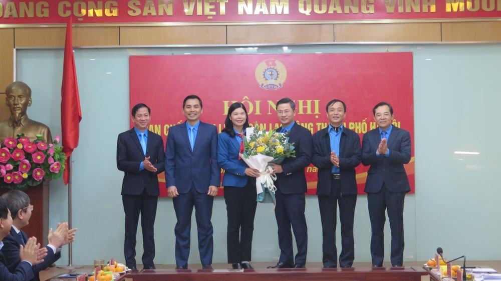 Đồng chí Nguyễn Phi Thường được bầu là Chủ tịch Liên đoàn Lao động Thành phố Hà Nội