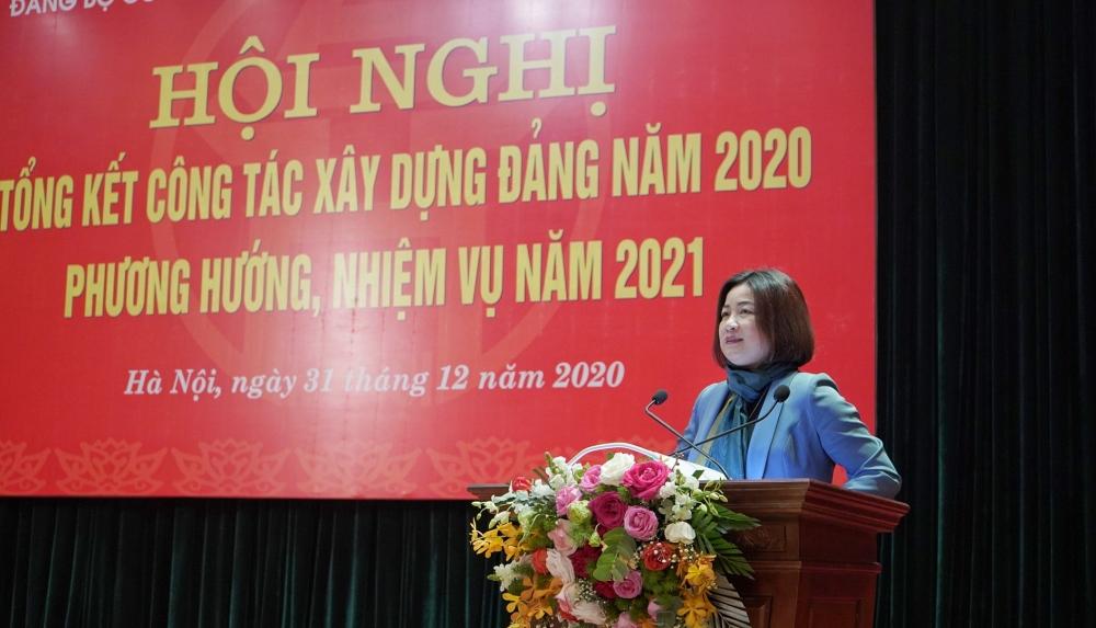 Đảng bộ Cơ quan Liên đoàn Lao động thành phố Hà Nội tổng kết công tác xây dựng Đảng năm 2020