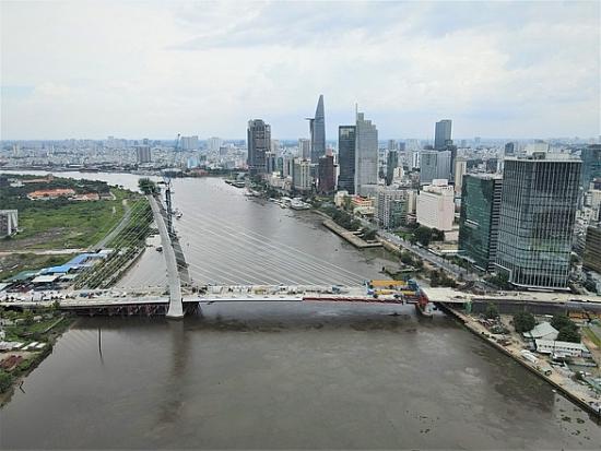 Chính thức hợp long cầu Thủ Thiêm 2, nối hai bờ Đông - Tây Sài Gòn