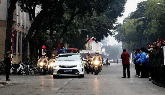 Ra quân bảo đảm trật tự an toàn giao thông năm 2021