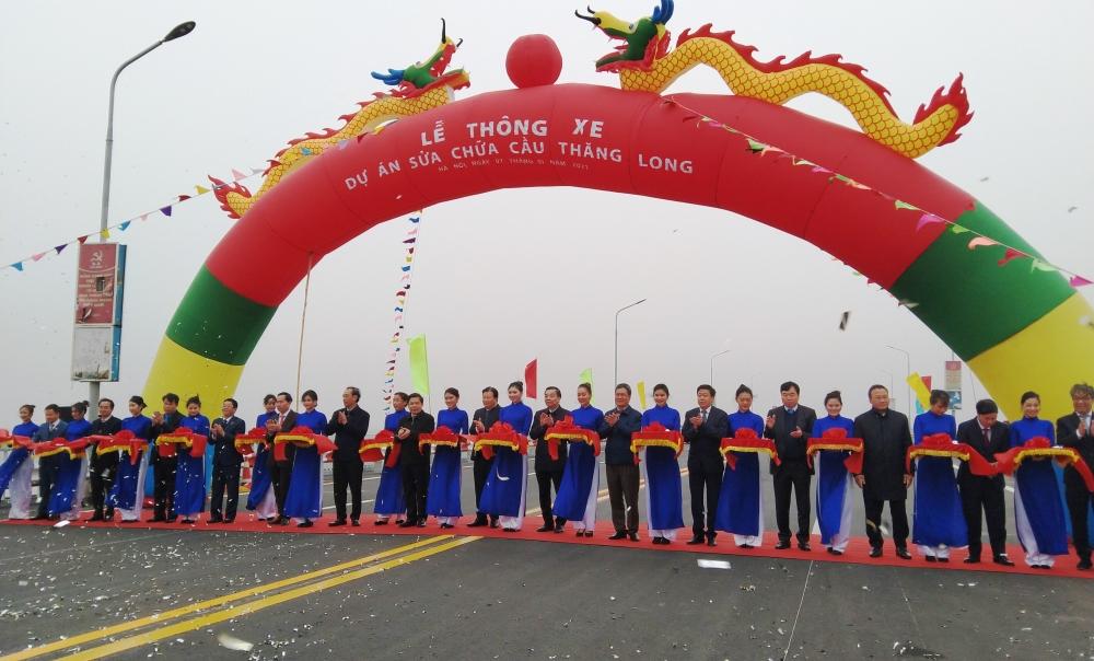 Cầu Thăng Long chính thức thông xe, đồng bộ toàn tuyến Vành đai 3 Hà Nội