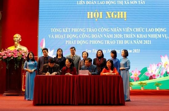 Liên đoàn Lao động thị xã Sơn Tây: Tổng kết hoạt động Công đoàn năm 2020