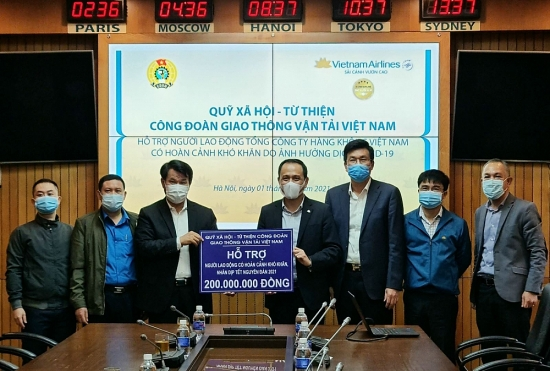 Công đoàn Giao thông vận tải Việt Nam: Chăm lo cho người lao động bị ảnh hưởng bởi Covid-19