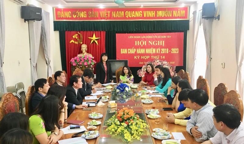Sơn Tây kiện toàn chức danh Chủ tịch Liên đoàn Lao động thị xã