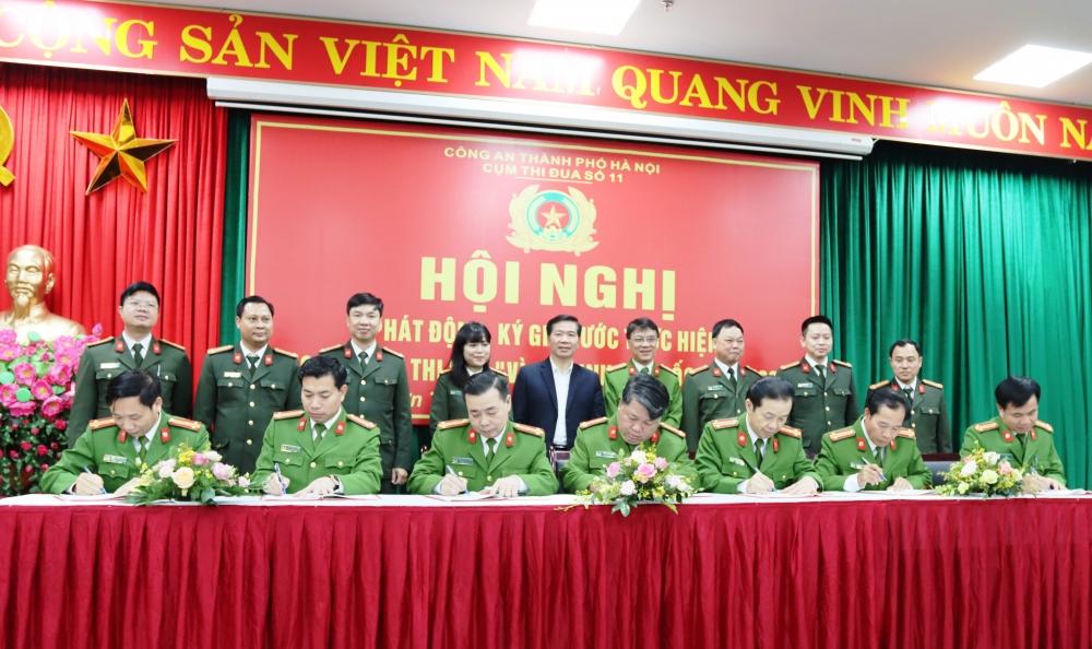 Cụm Thi đua số 11 Công an thành phố Hà Nội ký giao ước thi đua 2021
