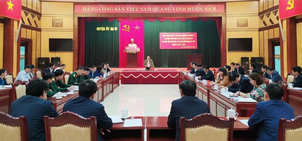 Huyện Ba Vì được bầu 40 đại biểu Hội đồng nhân dân huyện nhiệm kỳ 2021-2026