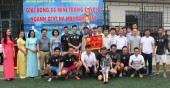 Bế mạc Giải bóng đá mini trong CNVCLĐ ngành GTVT Hà Nội năm 2018