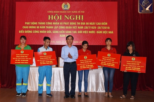 cong doan nganh xay dung ha noi phat dong thang cong nhan nam 2019