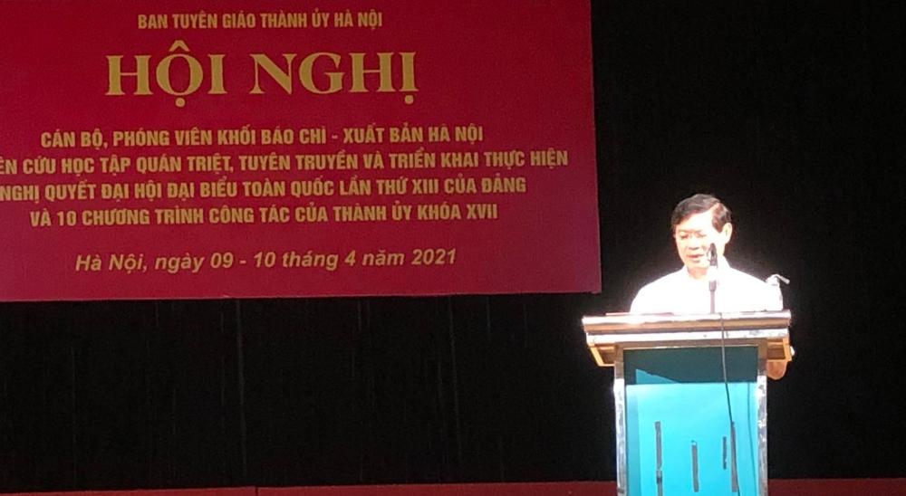 Cán bộ, phóng viên Hà Nội học tập Nghị quyết Đại hội XIII của Đảng