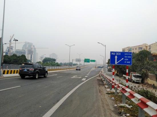 Ngày mai (23/4) tạm cấm phương tiện trên đường Vành đai 3 trên cao, đoạn Mai Dịch - cầu Thăng Long