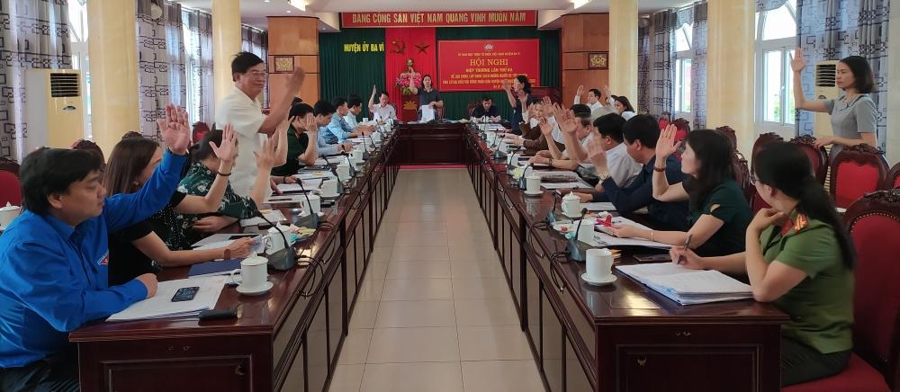 Ba Vì công bố danh sách ứng cử viên Hội đồng nhân dân huyện