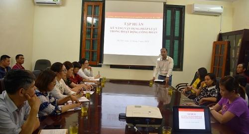 Công đoàn ngành GTVT Hà Nội: Tổ chức tập huấn nghiệp vụ công tác Công đoàn năm 2019
