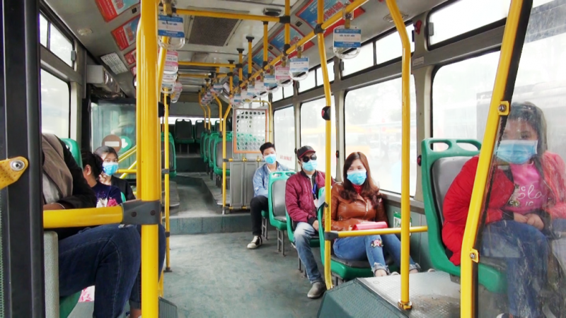 Xe buýt ở Hà Nội hoạt động trở lại nhưng phải đảm bảo giãn cách