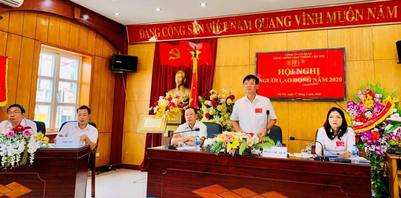 Công ty Cổ phần Công trình giao thông 2 Hà Nội tổ chức Hội nghị Người lao động năm 2020