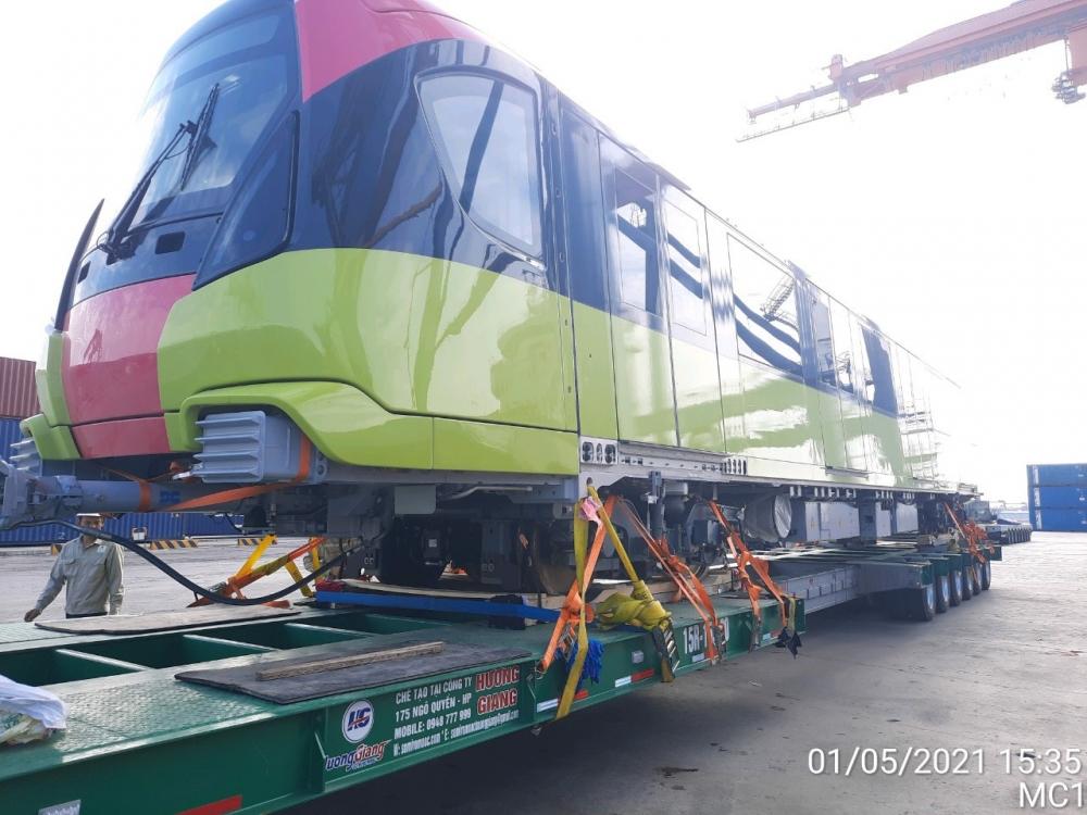 Dự án đường sắt Nhổn - Ga Hà Nội có thêm một đoàn tàu cập cảng Hải Phòng