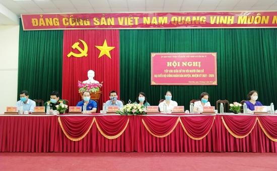 Tổ chức tiếp xúc cử tri tại 9 đơn vị bầu cử