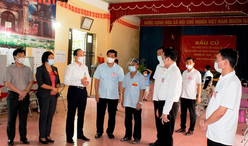 Huyện Thường Tín: Nhiều điểm bầu cử tỷ lệ cử tri đi bầu đạt trên 90%