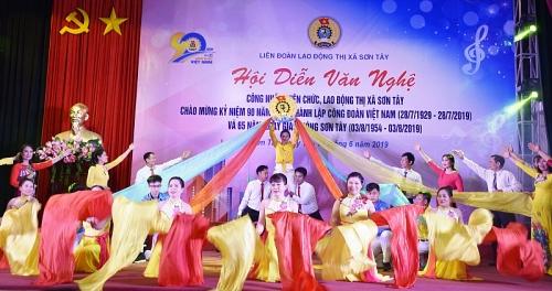 LĐLĐ thị xã Sơn Tây: Bế mạc Hội diễn văn nghệ trong CNVCLĐ