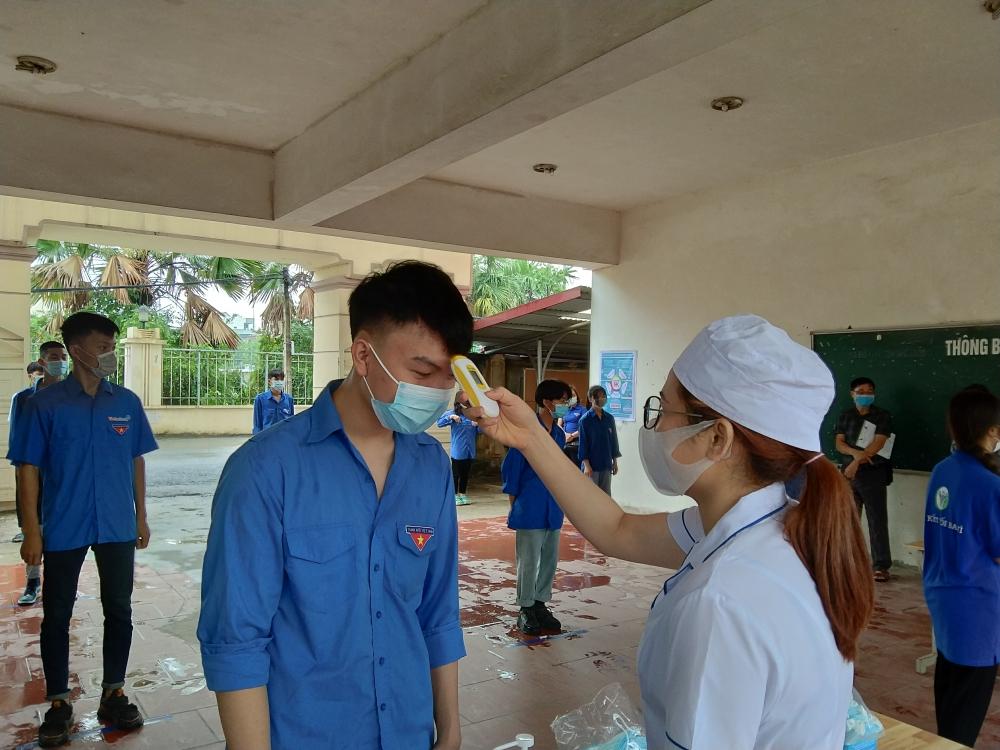 Diễn tập phòng, chống dịch Covid-19 phục vụ kỳ thi tuyển sinh vào lớp 10