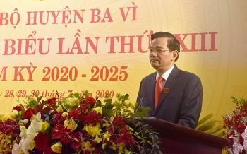 Đồng chí Dương Cao Thanh tiếp tục được tín nhiệm, bầu làm Bí thư Huyện ủy Ba Vì