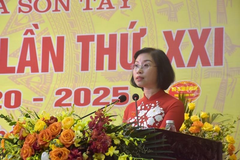 Bà Phạm Thị Thanh Mai được tín nhiệm giữ chức Bí thư Thị ủy Sơn Tây