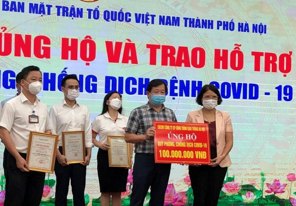 Tích cực tham gia ủng hộ phòng, chống dịch Covid-19