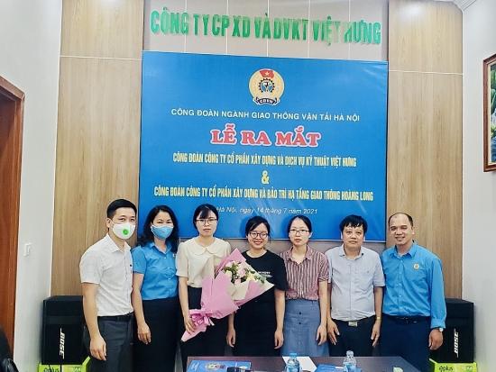 Công đoàn ngành Giao thông vận tải Hà Nội ra mắt thêm hai Công đoàn cơ sở
