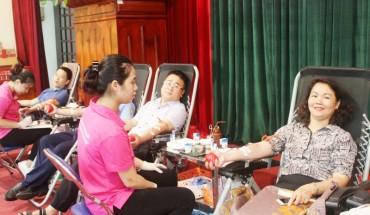 Cán bộ, CNVCLĐ ngành GTVT Hà Nội tham gia hiến máu tình nguyện