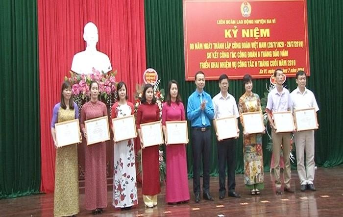 LĐLĐ huyện Ba Vì sơ kết công tác Công đoàn 6 tháng đầu năm