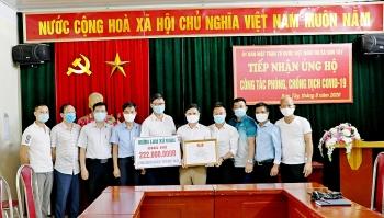 Sơn Tây tiếp nhận 222 triệu đồng ủng hộ quỹ 'Phòng, chống dịch Covid – 19' và quỹ 'Vì người nghèo'