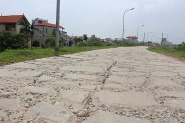 Đường đê Yên Nghĩa (Hà Đông) xuống cấp nghiêm trọng