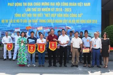 Sôi nổi các hoạt động tuyên truyền an toàn giao thông, văn hóa công sở cho người lao động