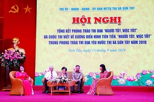 Thị xã Sơn Tây: Tổng kết phong trào thi đua 'Người tốt, việc tốt'