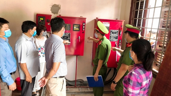 Kiểm tra phòng chống cháy nổ tại Làng Văn hóa Du lịch các dân tộc Việt Nam