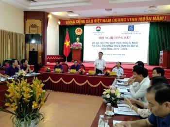 Huyện Ba Vì: Tổng kết Đề án hỗ trợ dạy học ngoại ngữ tại các trường học trên địa bàn