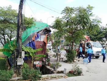 Huyện Ba Vì tăng cường giải tỏa vi phạm hành lang giao thông